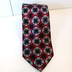Bugatti Geometric Silk Necktie